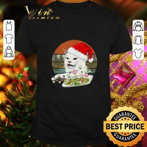 Cool Santa Cat Woman Yelling At A Cat meme Vintage shirt