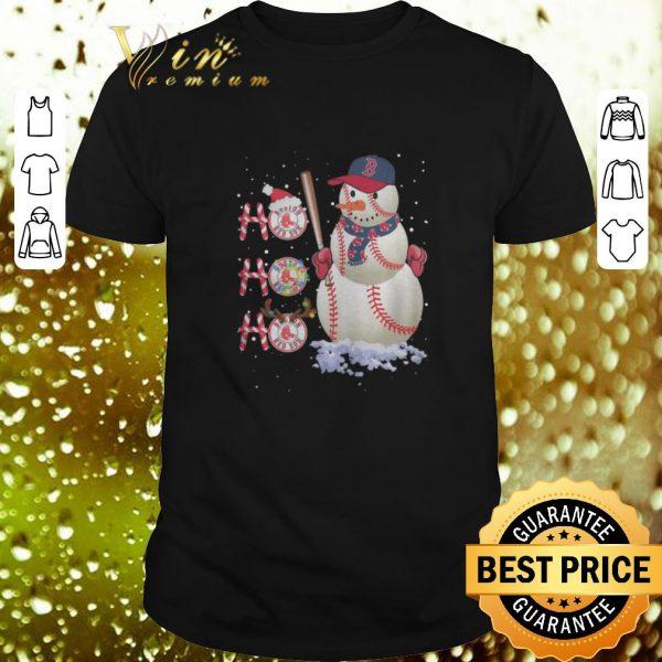 Cool Snowman Boston Red Sox Ho Ho Ho Christmas shirt