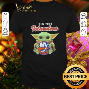 Cool Star Wars Baby Yoda hug New York Islanders shirt