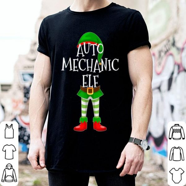 Nice Auto Mechanic Elf Matching Family Christmas Gift design sweater
