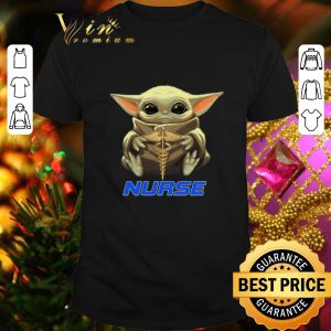 Nice Baby Yoda hug Nurse symbol Medical Star Wars Mandalorian shirt