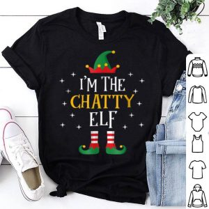 Nice I'm The Chatty Elf Funny Xmas Gift Family Group sweater