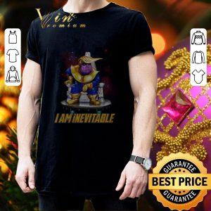 Nice Marvel Avengers Endgame Thanos Trump I am Inevitable shirt 2