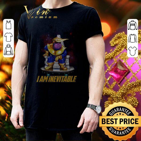 Nice Marvel Avengers Endgame Thanos Trump I am Inevitable shirt