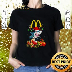 Nice Mcdonald's Shark Christmas gifts shirt