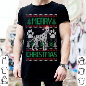 Nice Merry Christmas Dalmatian Ugly Matching Funny Gift Dog Lover sweater
