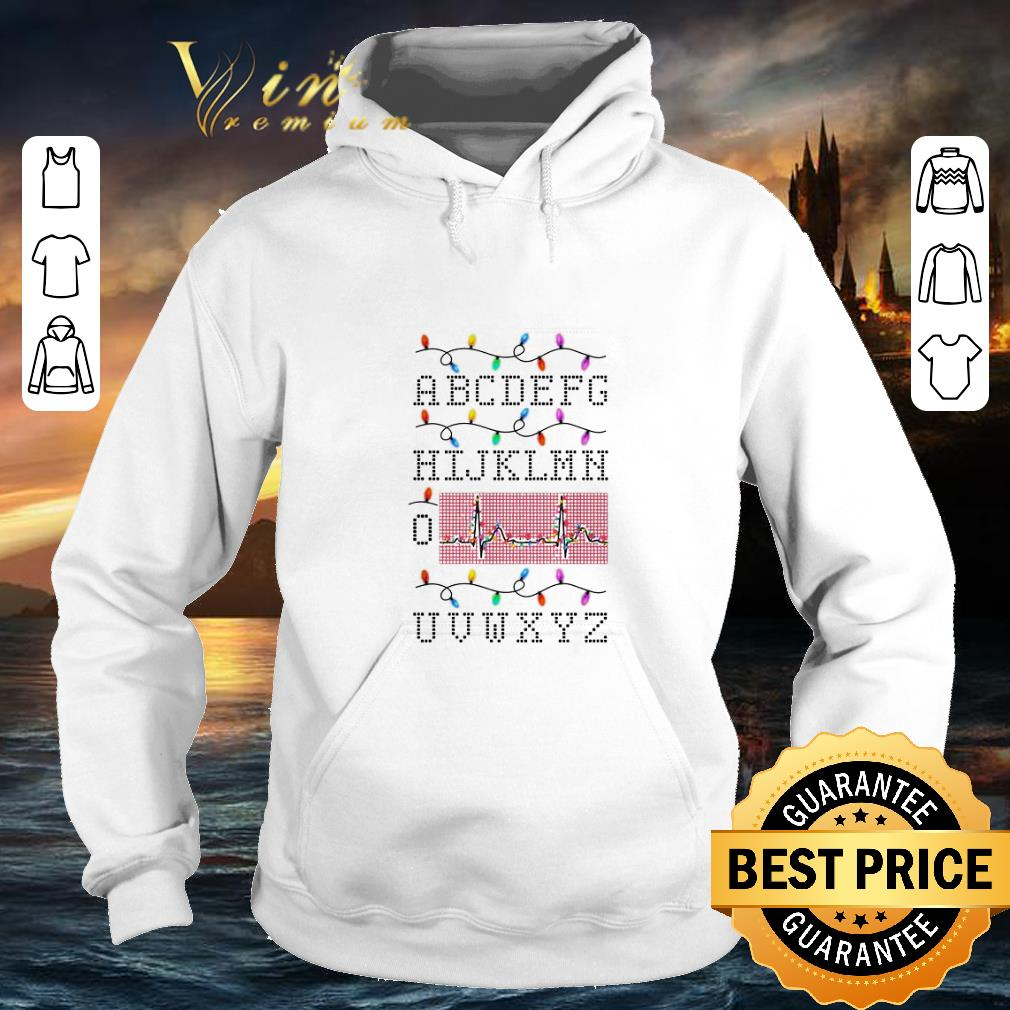Nice PQRST Alphabet Heartbeat Christmas lights Nurse shirt 4 - Nice PQRST Alphabet Heartbeat Christmas lights Nurse shirt