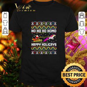 Nice Santa Unicorn Ho ho ho Homo Happy Holigays Christmas LGBT sweater