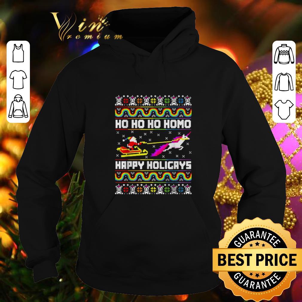 Nice Santa Unicorn Ho ho ho Homo Happy Holigays Christmas LGBT sweater 4 - Nice Santa Unicorn Ho ho ho Homo Happy Holigays Christmas LGBT sweater