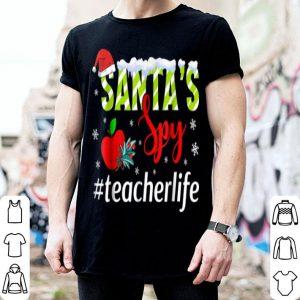 Nice Santa's Spy Teacher Life - Awesome Teacher Christmas sweater