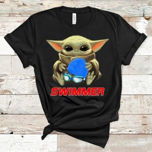 Nice Star Wars Baby Yoda Hug Swimmer shirt