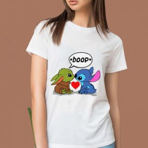 Official Baby Yoda Kiss Baby Stitch Boop shirt 1