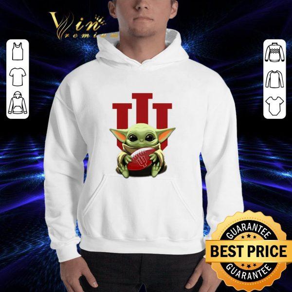 Official Baby Yoda hug Indiana Hoosiers Star Wars shirt
