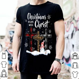 Official Christmas Begins With Christ Love Jesus Xmas Gifts sweater
