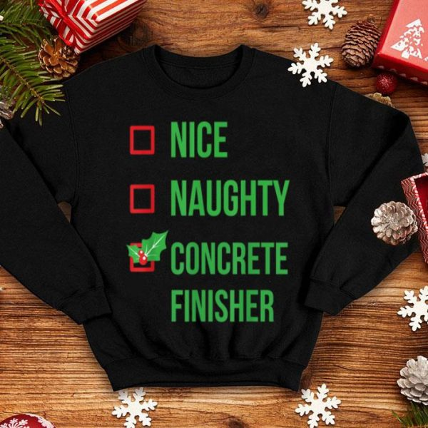 Official Concrete Finisher Funny Pajama Christmas Gift sweater