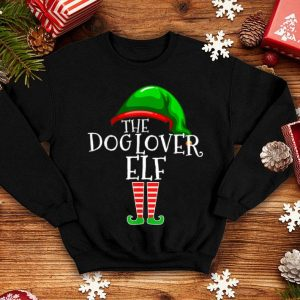 Official Dog Lover Elf Group Matching Family Christmas Gift Mom Dad sweater