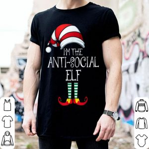 Official I'm The Anti-Social Elf Family Matching Christmas Gift Group sweater