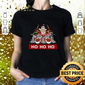 Official Santa Claus playing drummer HO HO HO shirt