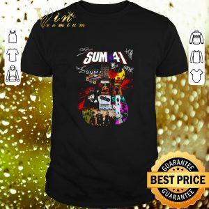 Official Sum 41 Guitarist all signature shirt