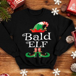 Original Bald Elf Gift Funny Family Costume Matching Christmas sweater