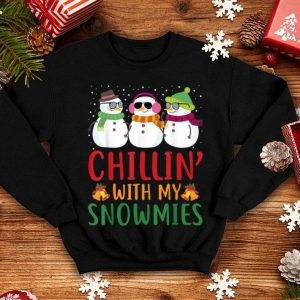Original Chillin With My Snowmies Cute Snowman Christmas sweater