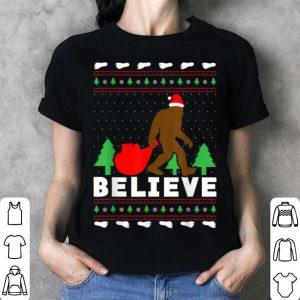 Premium Christmas Believe FUNNY Bigfoot Ugly Xmas sweater