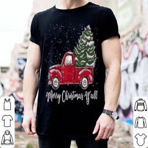 Premium Red Truck Christmas - Merry Christmas Yall sweater