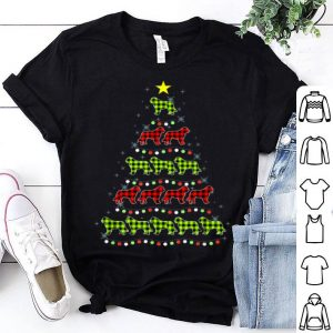 Premium Saint Bernard Christmas Tree Red Green Plaid Dog Lover Xmas sweater