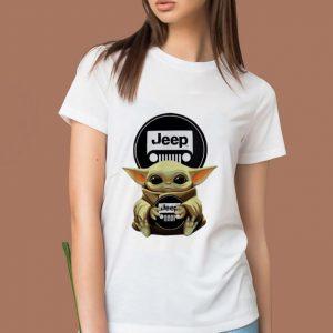 Premium Star Wars Baby Yoda Hug Jeep shirt 1