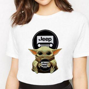 Premium Star Wars Baby Yoda Hug Jeep shirt 2