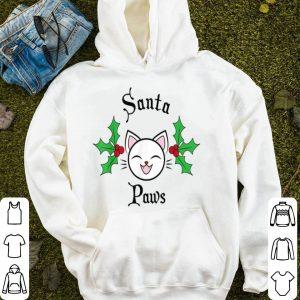Top Christmas Cute Funny Santa Paws Cat Party Tee Men Women Kids sweater