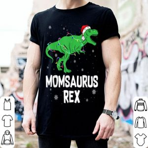 Top Funny Mom Saurus Rex Santa Hat Christmas Lights Gift sweater