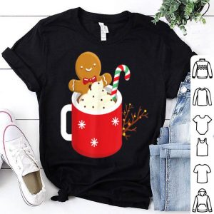 Top Hot Cocoa With Candy Cane Cream Christmas Xmas Gift sweater