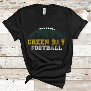 Great Green Bay Packers Distressed Skyline Football shirt