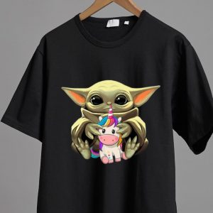 Great Star Wars Baby Yoda Hug Unicorn shirt