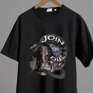 Premium Join Or Die Snake Skull American Flag shirt
