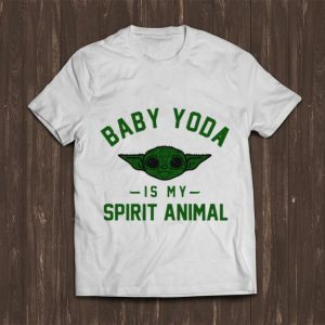 Pretty Star Wars Baby Yoda Is My Spirit Animal shirt