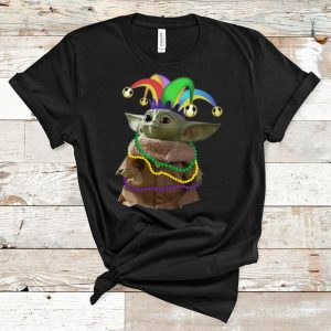 Top Star Wars Baby Yoda Mardi Gras shirt