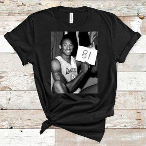 Awesome Kobe 81 Los Angeles Lakers NBA shirt