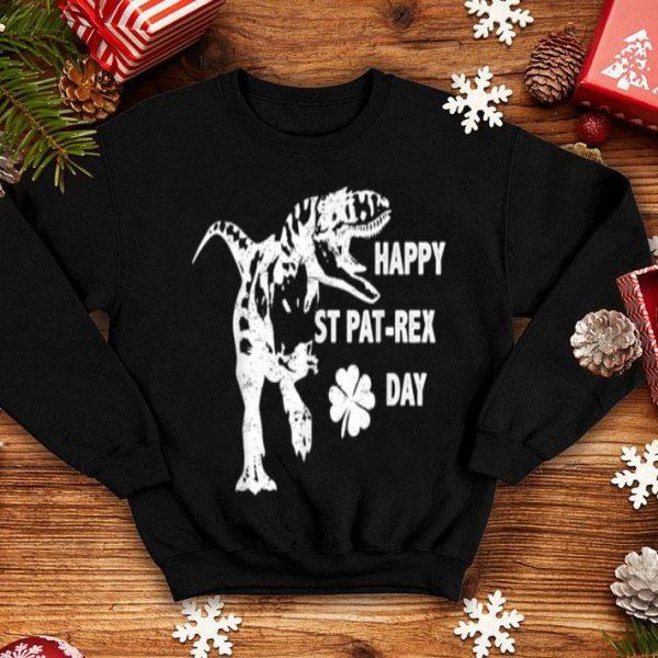 Awesome St Patrick's HAPPY ST PAT-REX DAY T-Rex Dinosaur Funny Boys shirt