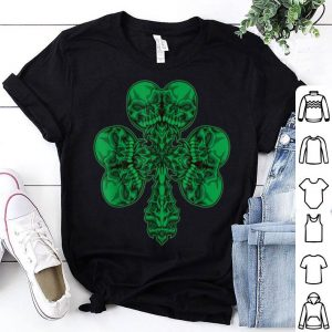Beautiful Cloverleaf Skull - Shamrock Full Of Skulls - Irish Pirate shirt