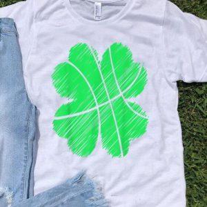 Beautiful St Patricks Day Basketball Boys Kids Men Irish Shamrock Gift shirt