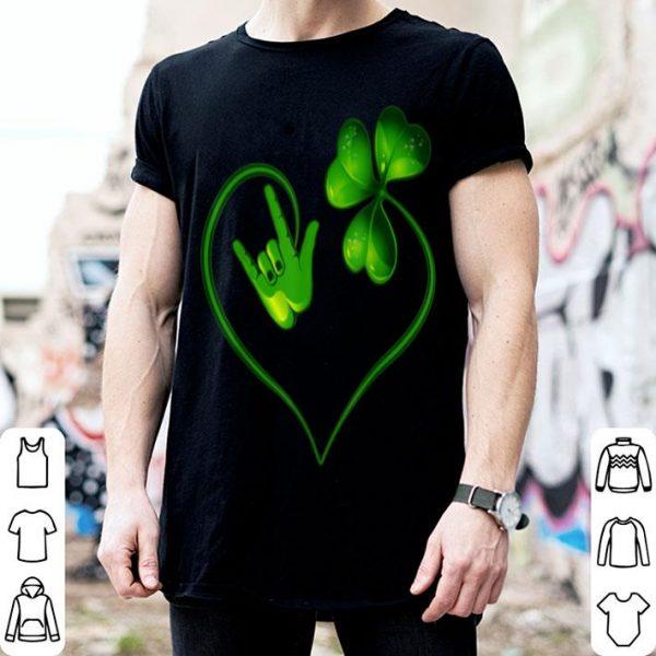 Official St Patricks Day I Love You Asl Sign Language shirt