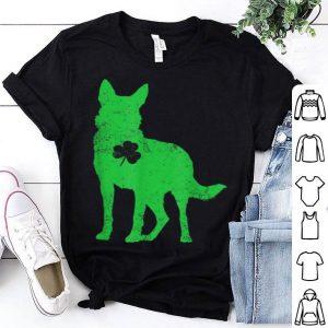 Original German Shepherd Irish Clover St Patrick Day Leprechaun Dog shirt
