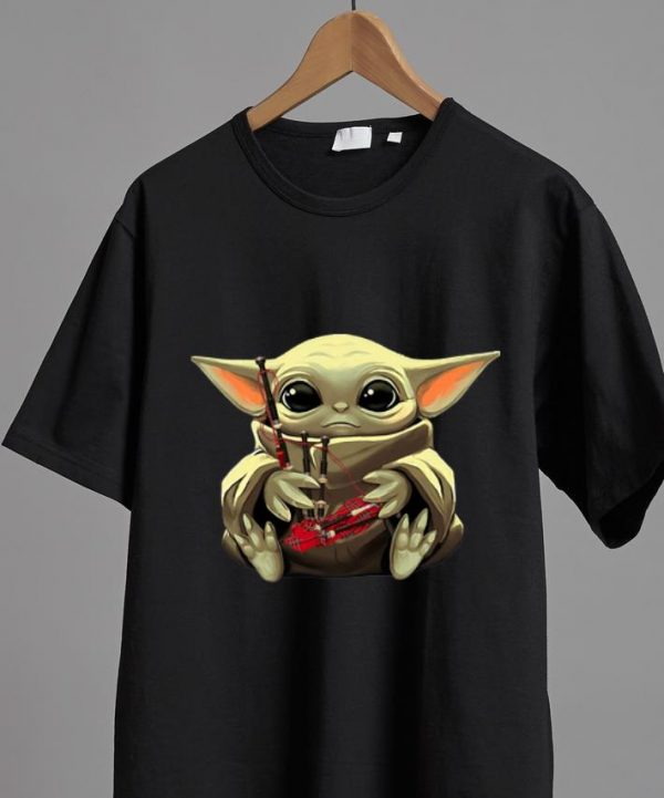 Pretty Star Wars Baby Yoda Hug Bagpipes shirt