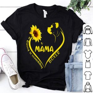 Awesome Happiness Is Being Boxer Dog Mama Cute Hippie Sunflower Mom shirt