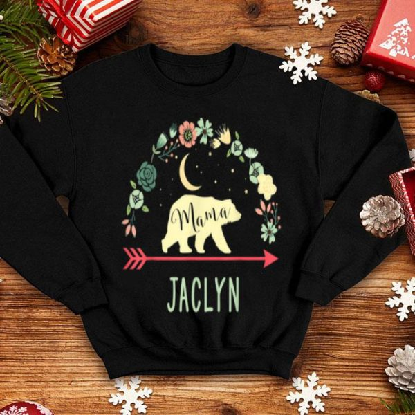 Awesome Jaclyn Name Gift Floral Personalized Mama Bear shirt