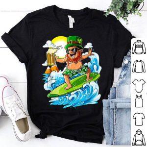 Awesome Leprechaun Hawaiian Surfing St Patricks Day Hawaii shirt