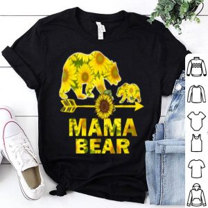 Awesome Mama Bear Sunflower Funny Mother Father Gift shirt