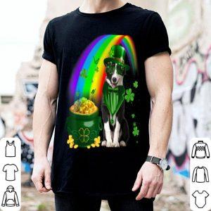 Beautiful Border Collie Dog Irish Leprechaun Coin Saint St Patrick Day shirt
